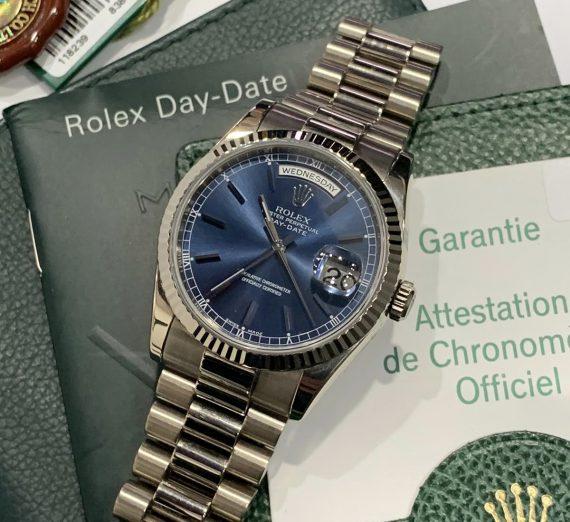 ROLEX DAYDATE 36MM 18CT WHITE GOLD 118239