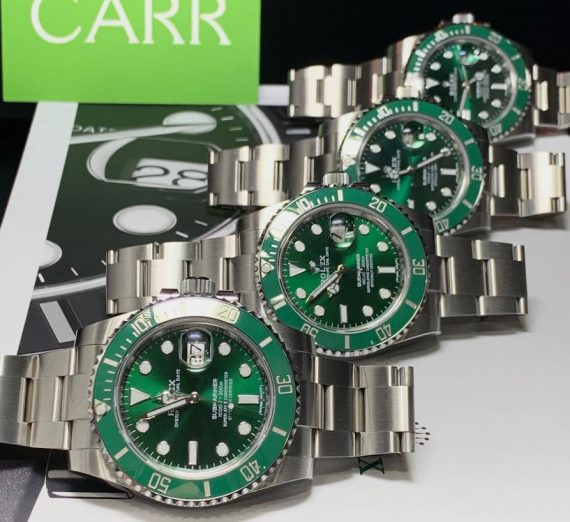ROLEX HULK SUBMARINER GREEN DIAL AND BEZEL 116610LV 15