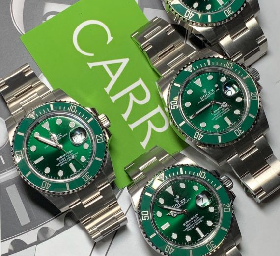 ROLEX HULK SUBMARINER GREEN DIAL AND BEZEL 116610LV 17