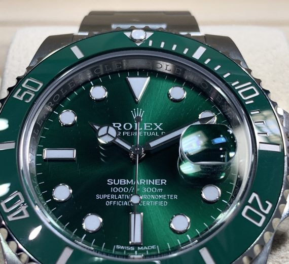 ROLEX HULK SUBMARINER GREEN DIAL AND BEZEL 116610LV 19