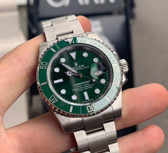 ROLEX HULK SUBMARINER GREEN DIAL AND BEZEL 116610LV 21