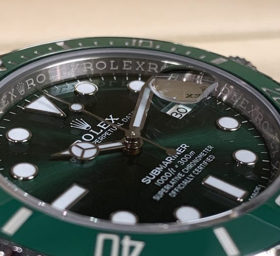 ROLEX HULK SUBMARINER GREEN DIAL AND BEZEL 116610LV 22