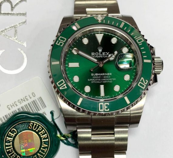 ROLEX HULK SUBMARINER GREEN DIAL AND BEZEL 116610LV 24