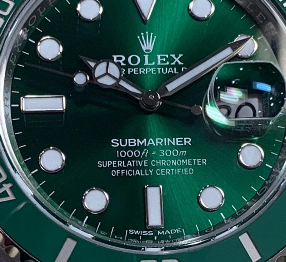ROLEX HULK SUBMARINER GREEN DIAL AND BEZEL 116610LV 25