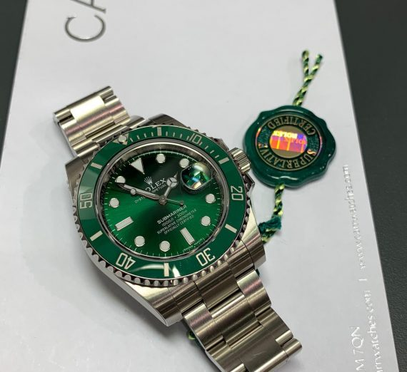ROLEX HULK SUBMARINER GREEN DIAL AND BEZEL 116610LV 30