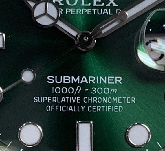 ROLEX HULK SUBMARINER GREEN DIAL AND BEZEL 116610LV 34