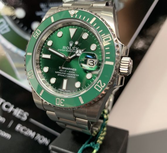 ROLEX HULK SUBMARINER GREEN DIAL AND BEZEL 116610LV 35
