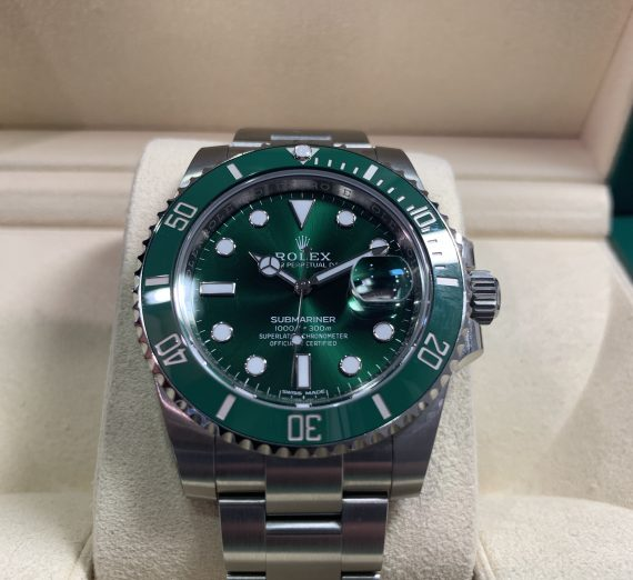 ROLEX HULK SUBMARINER GREEN DIAL AND BEZEL 116610LV 36