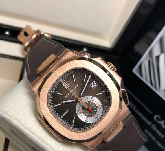 PATEK PHILIPPE 18CT ROSE GOLD NAUTILUS CHRONOGRAPH 5980R-001 3