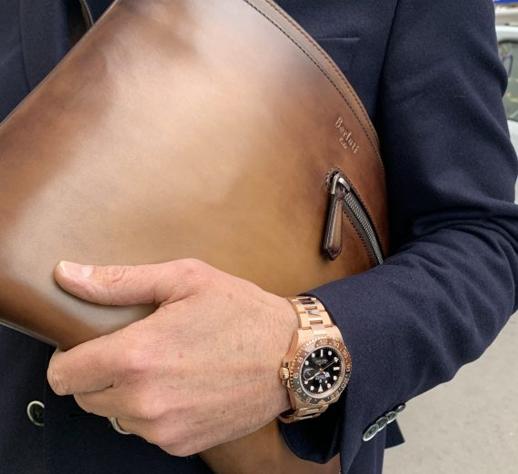 ROLEX 18CT ROSE GOLD GMT WITH BROWN AND BLACK BEZEL 3