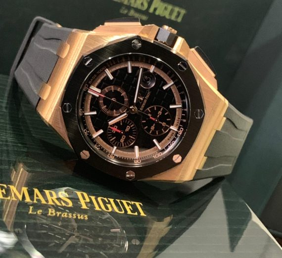 AUDEMARS PIGUET ROYAL OAK OFFSHORE CHRONOGRAPH #26401RO.OO.A002CA.02 18CT ROSE GOLD 9