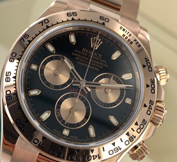 Rolex Cosmograph Daytona 116505 18ct Rose Gold black dial 9
