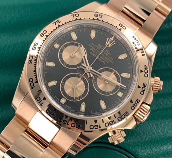 Rolex Cosmograph Daytona 116505 18ct Rose Gold black dial 4