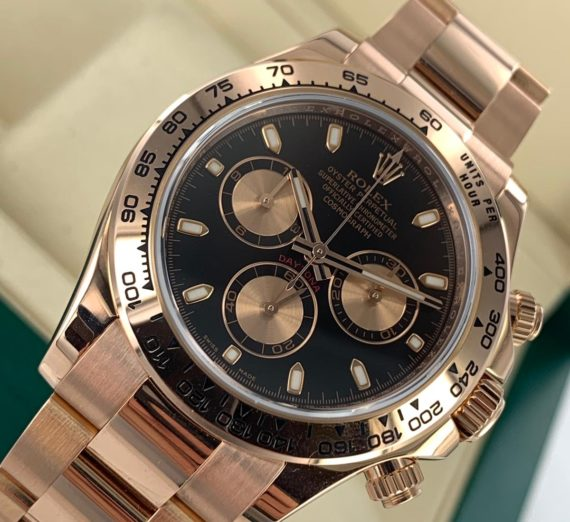 Rolex Cosmograph Daytona 116505 18ct Rose Gold black dial 6
