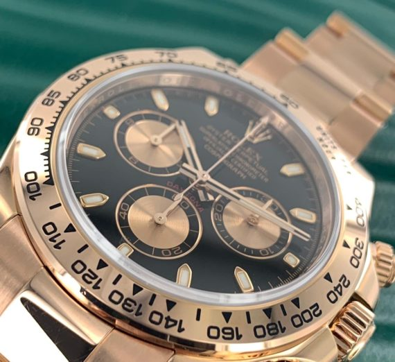 Rolex Cosmograph Daytona 116505 18ct Rose Gold black dial 7
