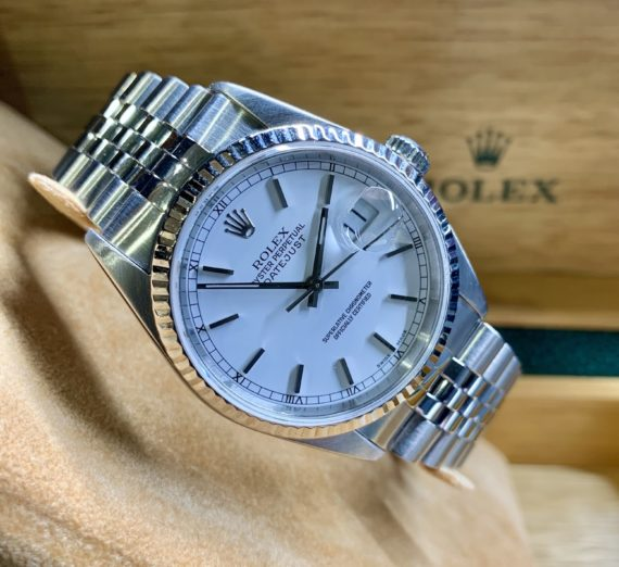 ROLEX STAINLESS STEEL 36MM DATEJUST 16234 5