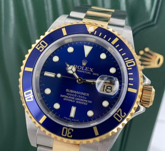 ROLEX SUBMARINER 18CT GOLD AND STEEL 16613 8