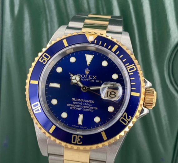 ROLEX SUBMARINER 18CT GOLD AND STEEL 16613 3