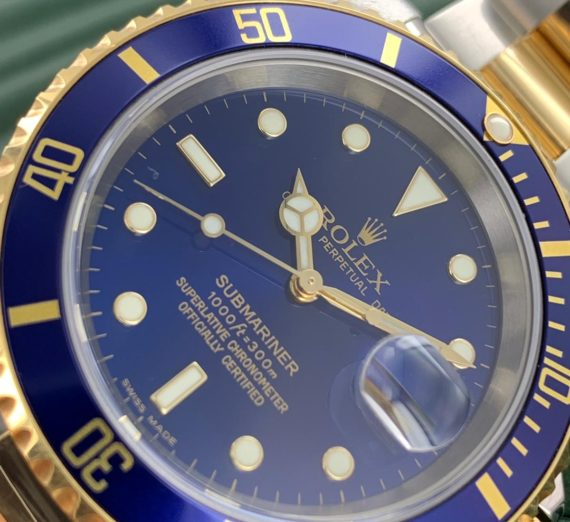 ROLEX SUBMARINER 18CT GOLD AND STEEL 16613 4