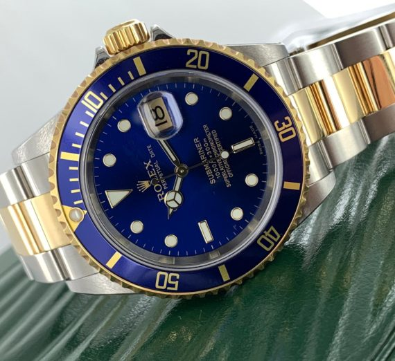 ROLEX SUBMARINER 18CT GOLD AND STEEL 16613 6
