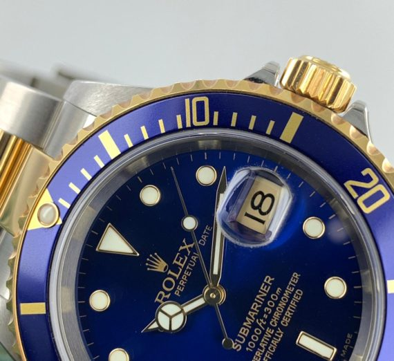 ROLEX SUBMARINER 18CT GOLD AND STEEL 16613 7