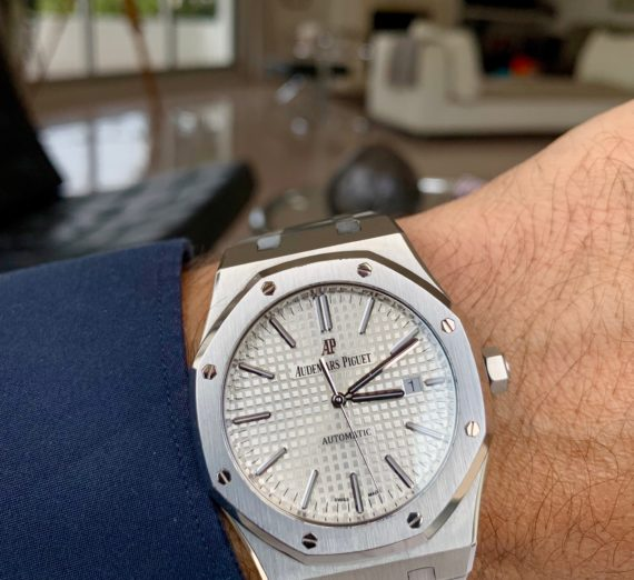 AUDEMARS PIGUET ROYAL OAK AUTOMATIC WHITE 15400ST 5
