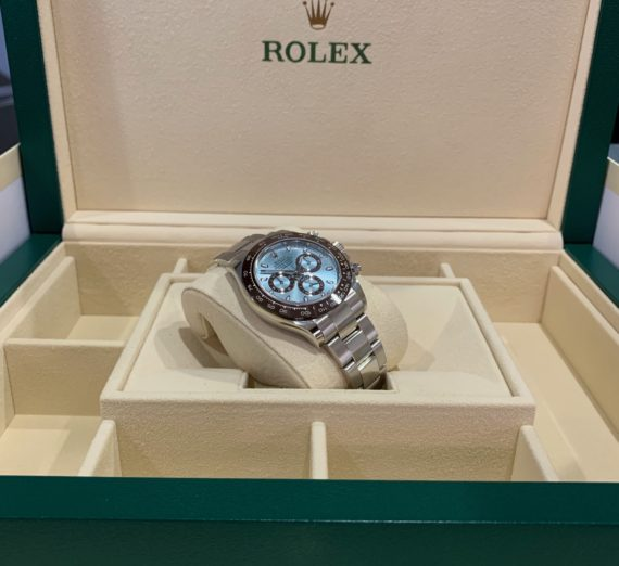 NEW 2020 ROLEX DAYTONA IN PLATINUM WITH THE STUNNING ICE BLUE DIAL 116506 1
