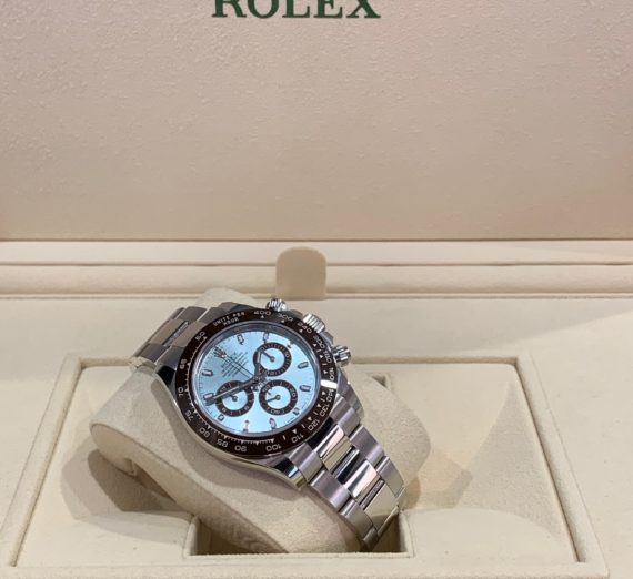 NEW 2020 ROLEX DAYTONA IN PLATINUM WITH THE STUNNING ICE BLUE DIAL 116506 3