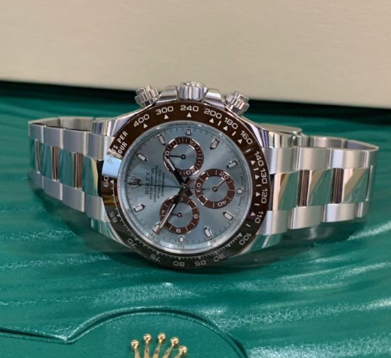 NEW 2020 ROLEX DAYTONA IN PLATINUM WITH THE STUNNING ICE BLUE DIAL 116506 4