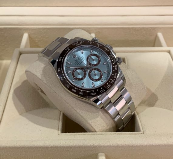 NEW 2020 ROLEX DAYTONA IN PLATINUM WITH THE STUNNING ICE BLUE DIAL 116506