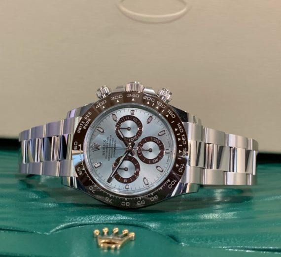 NEW 2020 ROLEX DAYTONA IN PLATINUM WITH THE STUNNING ICE BLUE DIAL 116506 5