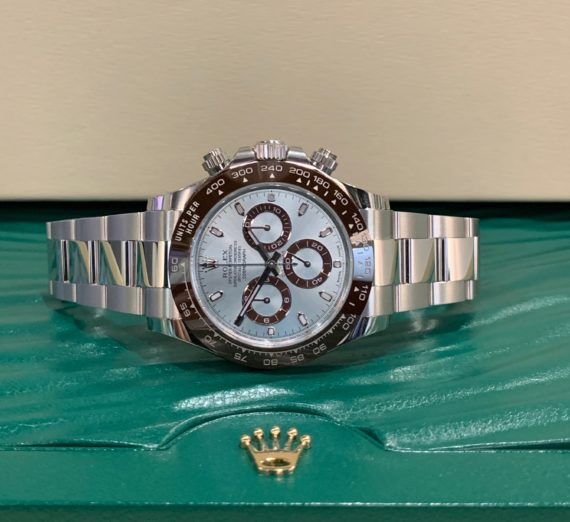 NEW 2020 ROLEX DAYTONA IN PLATINUM WITH THE STUNNING ICE BLUE DIAL 116506 6