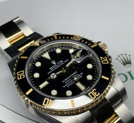 ROLEX SUBMARINER STAINLESS STEEL AND 18CT YELLOW GOLD 116613LN 1