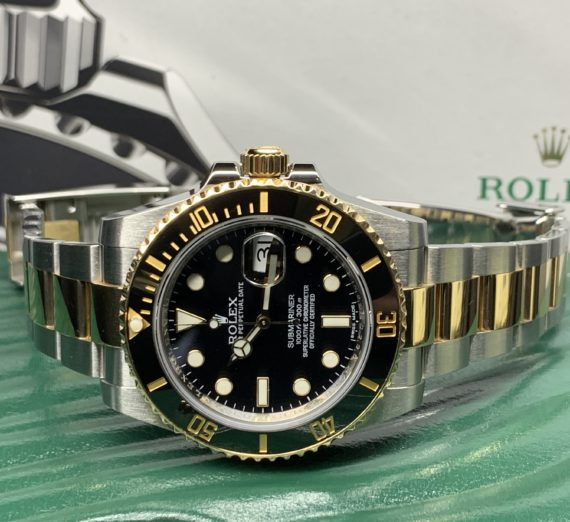 ROLEX SUBMARINER STAINLESS STEEL AND 18CT YELLOW GOLD 116613LN 2