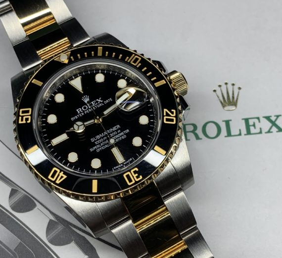 ROLEX SUBMARINER STAINLESS STEEL AND 18CT YELLOW GOLD 116613LN