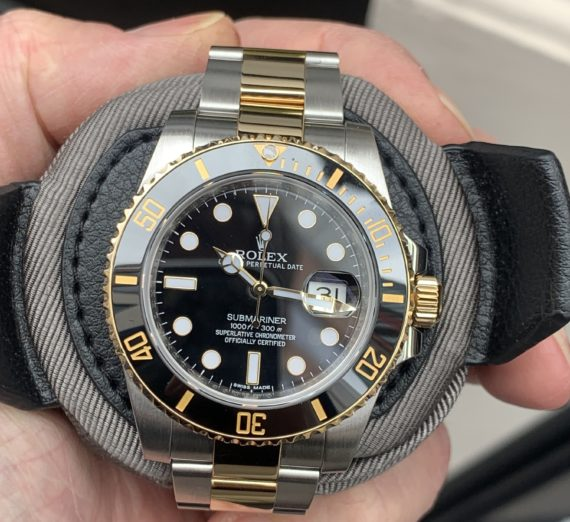 ROLEX SUBMARINER STAINLESS STEEL AND 18CT YELLOW GOLD 116613LN 6