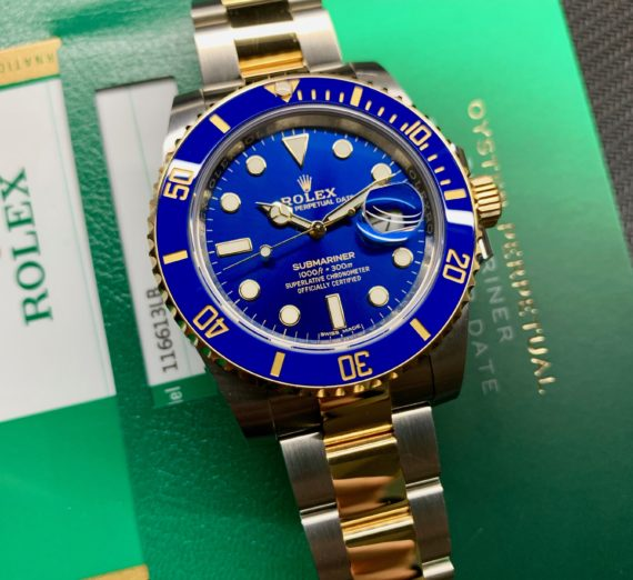 A 2019 ROLEX SUBMARINER STEEL AND GOLD 116613LB 9