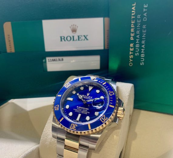 A 2019 ROLEX SUBMARINER STEEL AND GOLD 116613LB 2