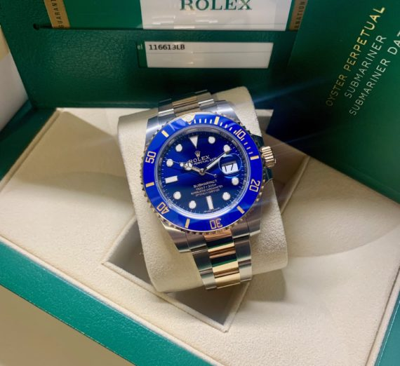 A 2019 ROLEX SUBMARINER STEEL AND GOLD 116613LB 3