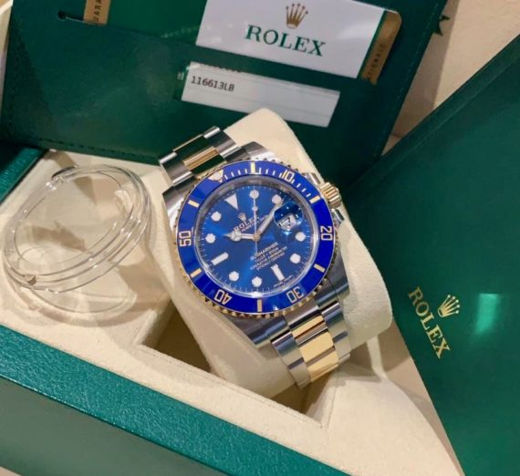 A 2019 ROLEX SUBMARINER STEEL AND GOLD 116613LB
