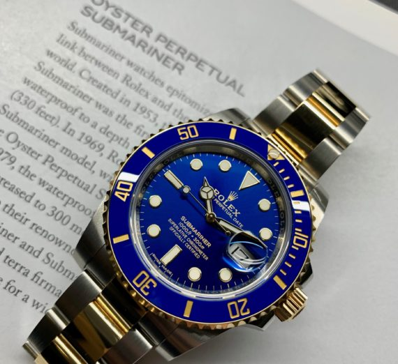 A 2019 ROLEX SUBMARINER STEEL AND GOLD 116613LB 6