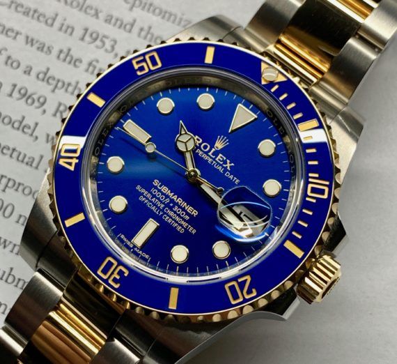 A 2019 ROLEX SUBMARINER STEEL AND GOLD 116613LB 7