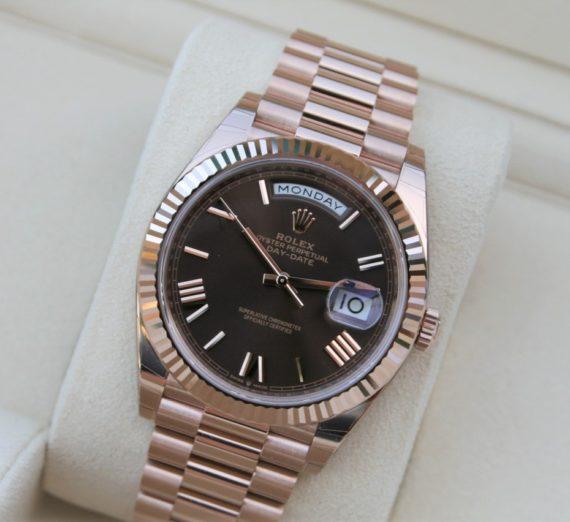 Rolex Day-Date 40 Everose / Chocolate Roman - 228235 3