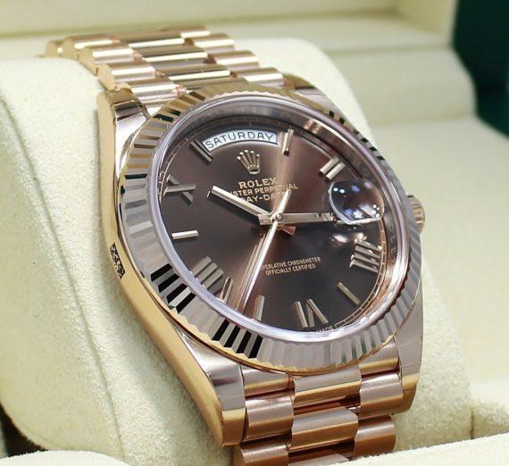 Rolex Day-Date 40 Everose / Chocolate Roman - 228235