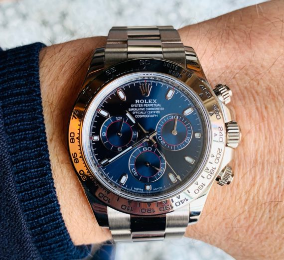 ROLEX DAYTONA IN 18CT WHITE GOLD BLUE DIAL 1