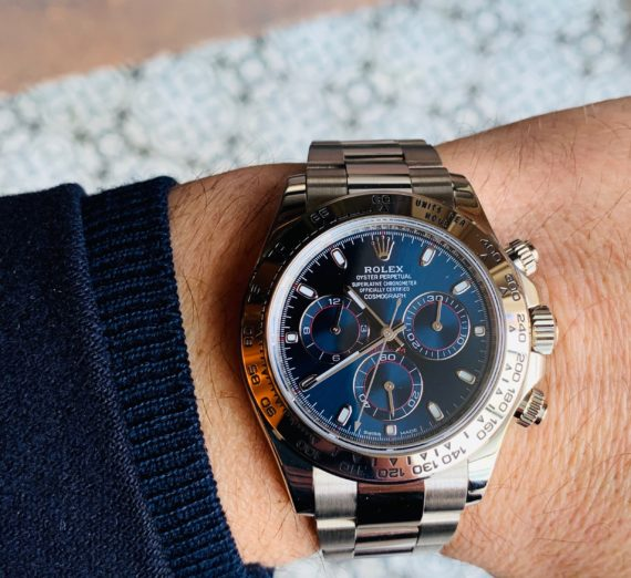 ROLEX DAYTONA IN 18CT WHITE GOLD BLUE DIAL 3