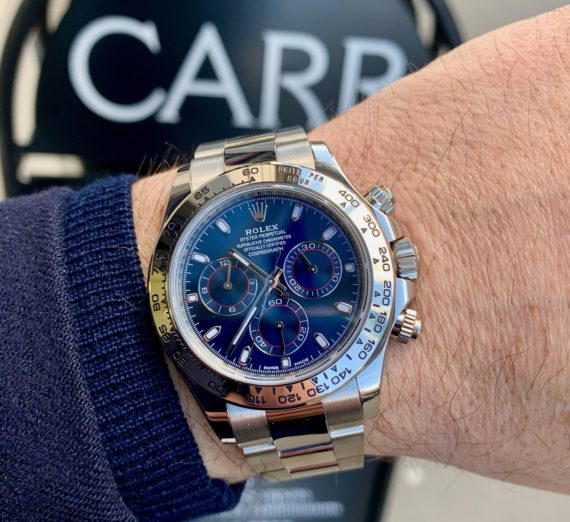 ROLEX DAYTONA IN 18CT WHITE GOLD BLUE DIAL