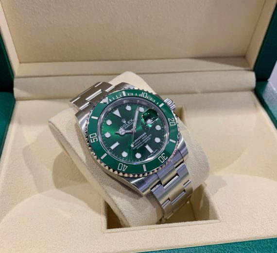 ROLEX HULK SUBMARINER GREEN DIAL AND BEZEL 116610LV 38