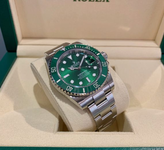 ROLEX HULK SUBMARINER GREEN DIAL AND BEZEL 116610LV 39