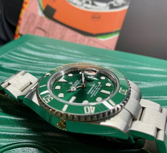 ROLEX HULK SUBMARINER GREEN DIAL AND BEZEL 116610LV 42